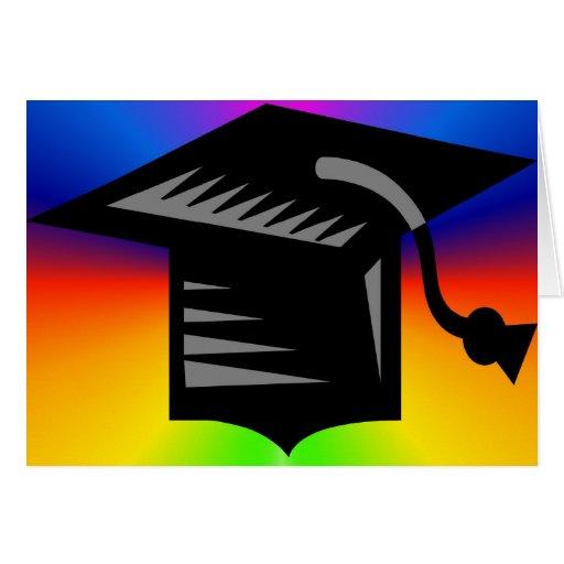 Carte de casquette d'obtention du diplôme