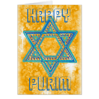 Carte de célébration de Purim