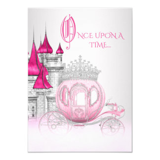 Carte De Cendrillon princesse Birthday il était une fois