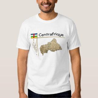Carte de Centrafrique + Drapeau + T-shirt de titre