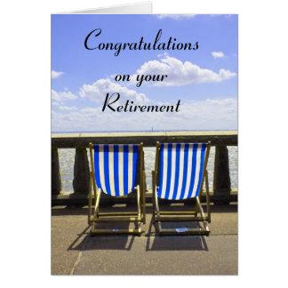 Carte de chaise longue de retraite