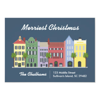 Carte de Charleston la Caroline du Sud de rangée Carton D'invitation 12,7 Cm X 17,78 Cm