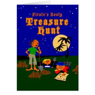 Carte de chasse à trésor de pirate