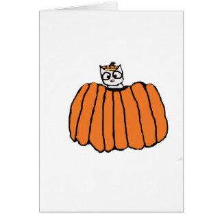 Carte de chat de Halloween