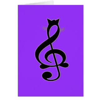 Carte de chat de jazz