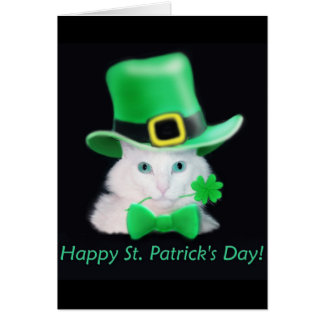 Carte de chat de jour de St.Patricks