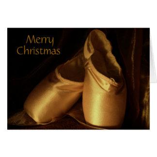Carte de chaussures de ballet de Joyeux Noël