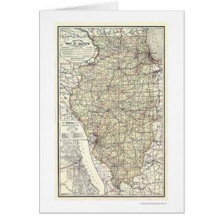 Carte de chemin de fer de l'Illinois 1898