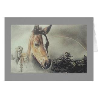 """Carte de cheval """"au-dessus d'arc-en-ciel"""""""