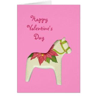 Carte de cheval de Saint-Valentin