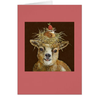 carte de chèvre de bébé