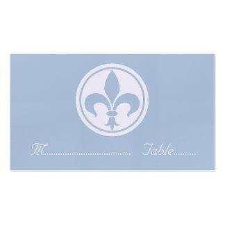 Carte de Chic Fleur De Lis Place, bleue Carte De Visite Standard
