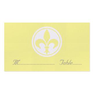 Carte de Chic Fleur De Lis Place, jaune Carte De Visite Standard