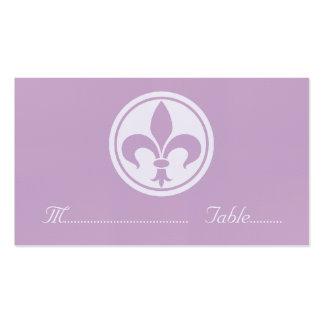 Carte de Chic Fleur De Lis Place, lilas Carte De Visite Standard