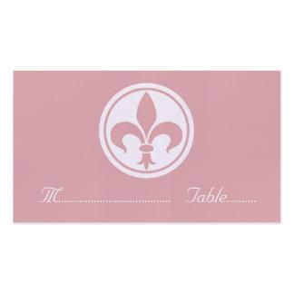 Carte de Chic Fleur De Lis Place, rose Carte De Visite Standard