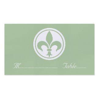 Carte de Chic Fleur De Lis Place, sauge Carte De Visite Standard