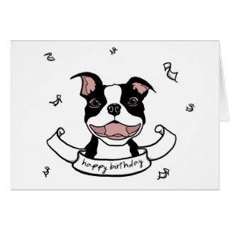 Carte de chien de Boston Terrier de joyeux