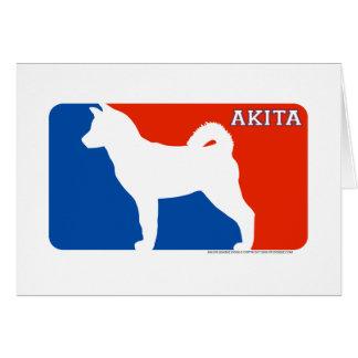 Carte de chien de ligue d'Akita