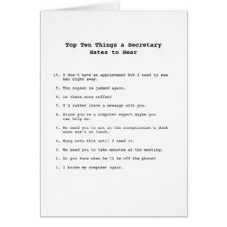 Carte de choses de Top Ten