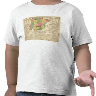 Carte de chronologie de l Espagne et du Portugal T-shirt