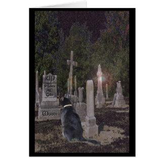 Carte de cimetière d'animal familier