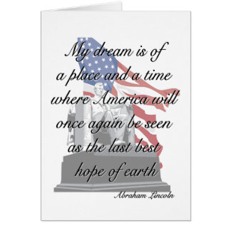 Carte de citation d'Abraham Lincoln