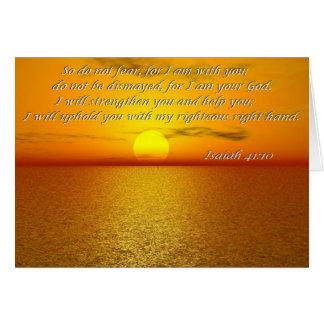 Carte de citation de bible de 41:10 d'Isaïe - ains