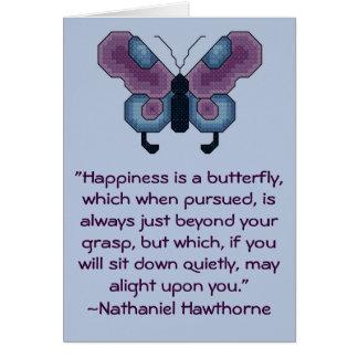 Carte de citation de bonheur de Nathaniel