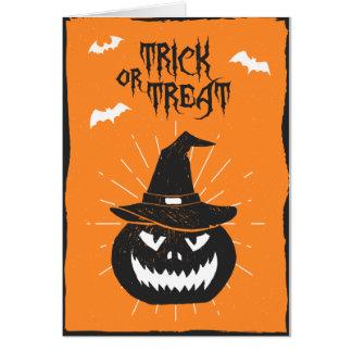 Carte de citrouille de Halloween