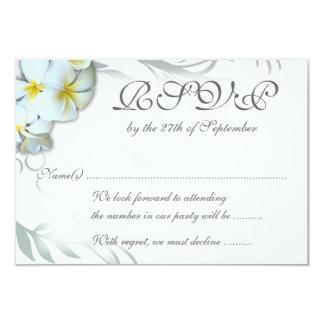 Carte de clôture de mariage du Flourish RSVP de Carton D'invitation 8,89 Cm X 12,70 Cm