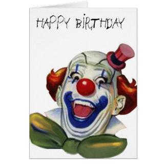 Carte de clown d'anniversaire