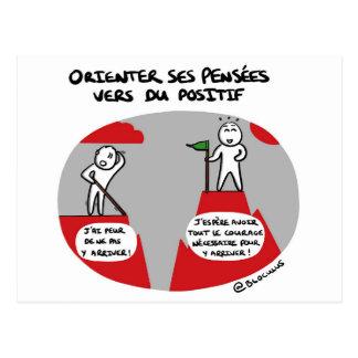 """Carte de coaching """"Pensées positives"""""""