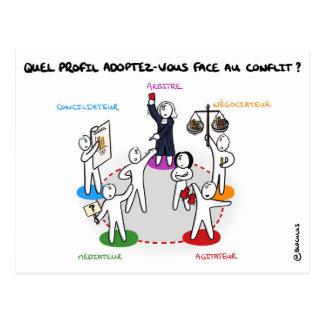 """Carte de coaching """"Profil face au conflit"""""""
