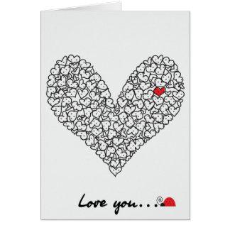 Carte de coeur, carte de Saint-Valentin