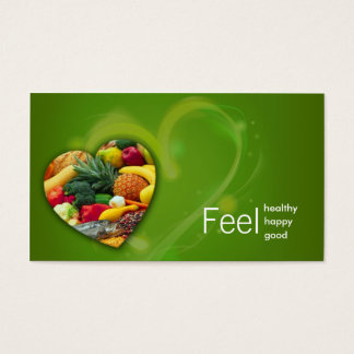 Carte de coeur de fruit de nutritionniste de vert