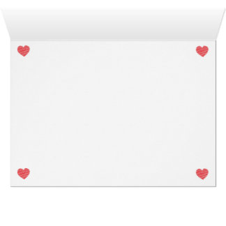 Carte de coeur de griffonnage