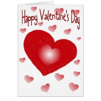 Carte de coeur de heureuse Sainte-Valentin