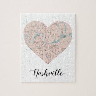 Carte de coeur de Nashville Puzzle