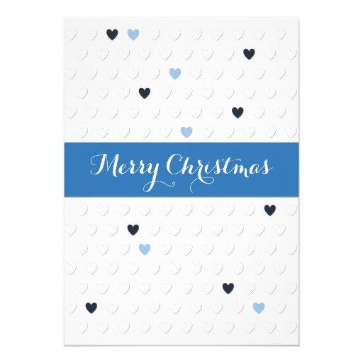 Carte de coeur de Noël très Joyeux Faire-part Personnalisables
