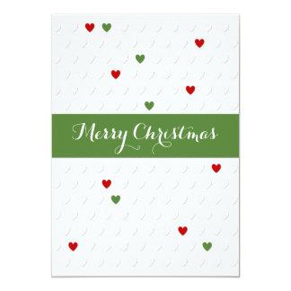 Carte de coeur de Noël très Joyeux Invitations Personnalisées