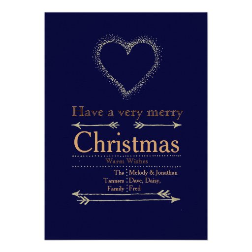 Carte de coeur de Noël très Joyeux Cartons D'invitation