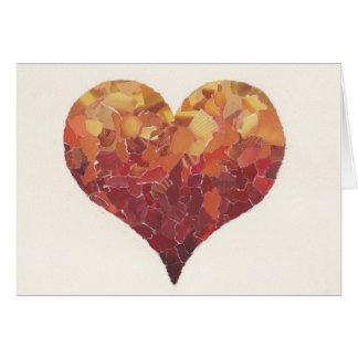 Carte de coeur pour exprimer des mercis ou l'amour