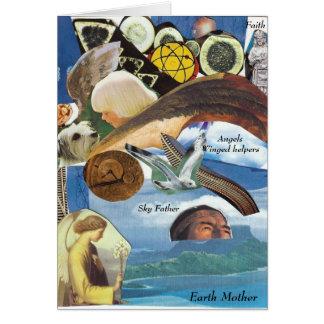 Carte de collage de chemin d'âme de guides d'anges
