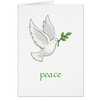 Carte de colombe de paix