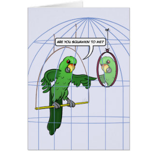 Carte de combat de cage de perroquet