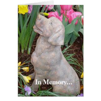 Carte de condoléance de chien