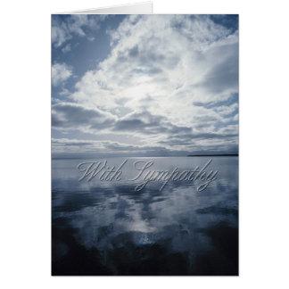 Carte de condoléance de ciel et d'eau