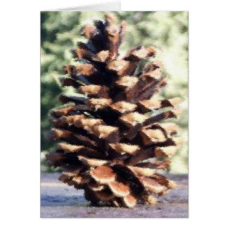 Carte de cône de pin, vierge