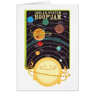 Carte de confiture de cercle de système solaire