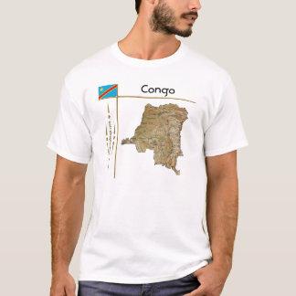 Carte de Congo-Kinshasa + Drapeau + T-shirt de